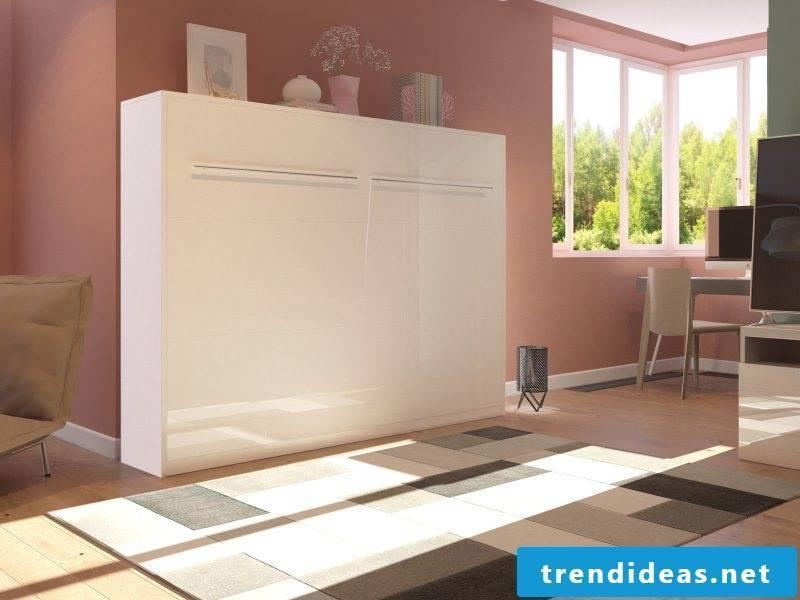 Wall bed small closet