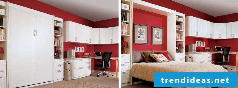 Wall bed bedroom