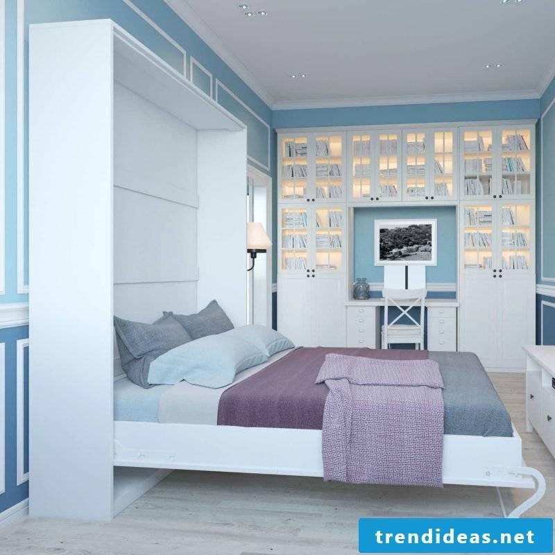 Wall bed design bedroom