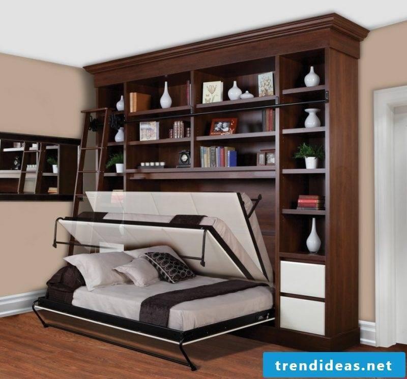 Wall bed shelf