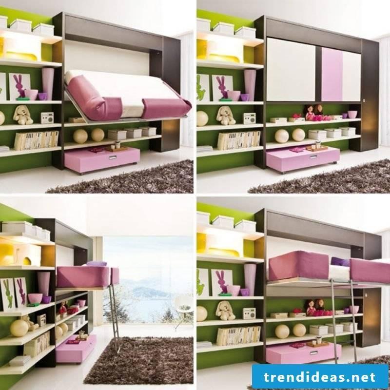 Wall bed nursery ideas