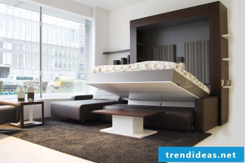 Wall bed folding bed