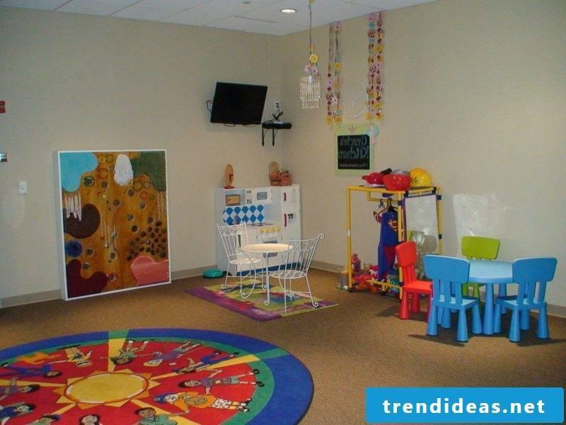 Nursery carpet in a round shape