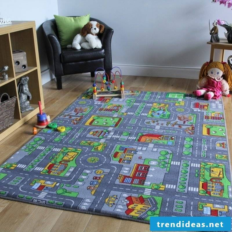 Nursery carpet is perfect for interesting games