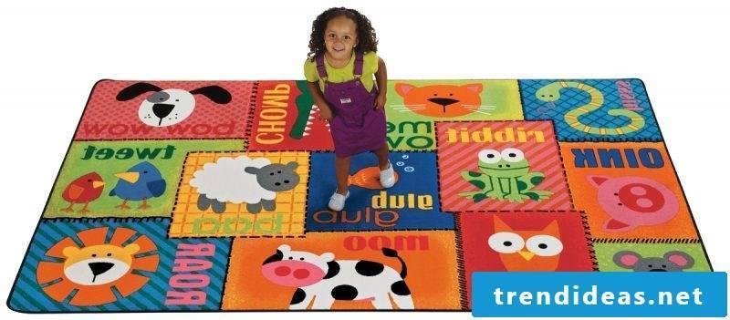 The nursery carpet also has educational advantages