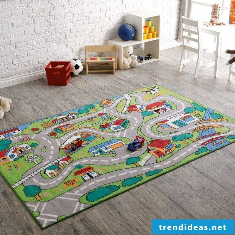 Playing is more interesting on the nursery carpet