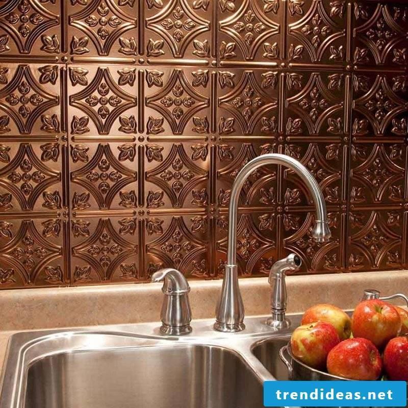 Splashguard for kitchen bronze
