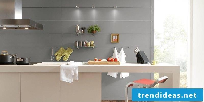 Splash guard for kitchen made of panels
