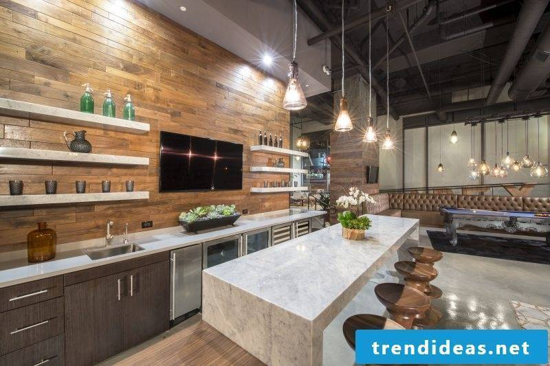 Bring nature with wood splash guard for kitchen