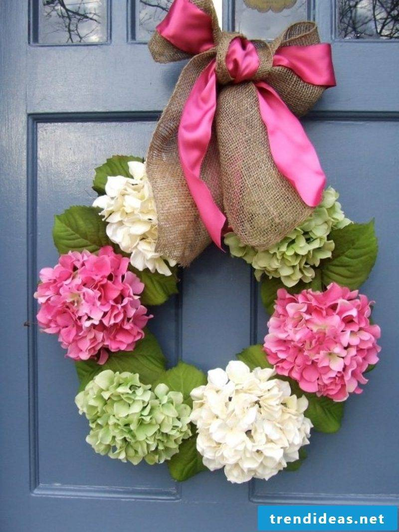 Spring crafts interesting floral wreath with bow