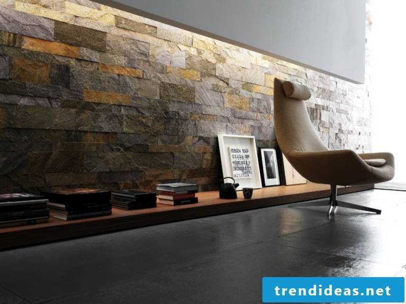 Stone look with wall cladding