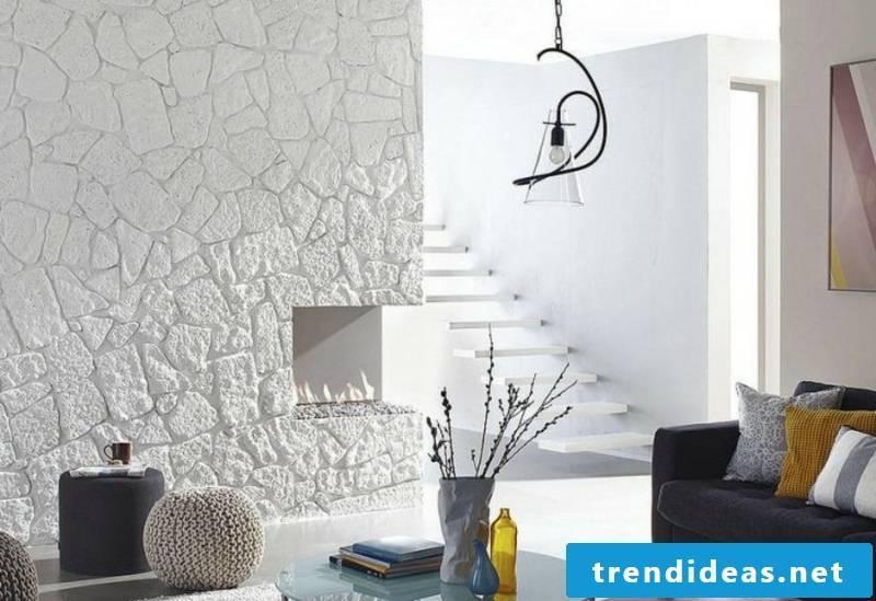 white wall cladding stone panels