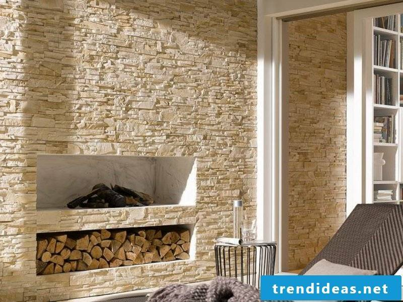 Stone look with wall cladding stone panels