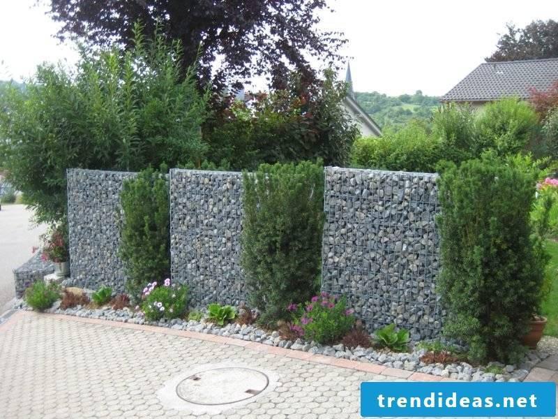 Gabion fence classic creative ideas garden design