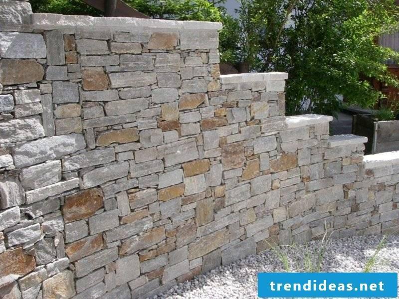 Stone wall gneiss garden screen