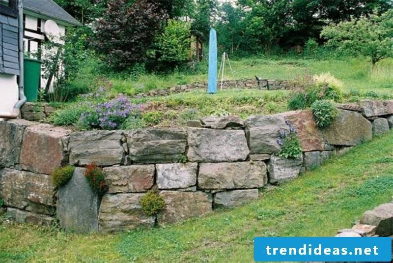 low stone wall garden classic look