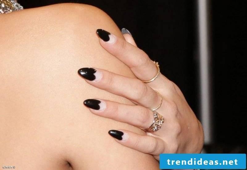 Nail art design Black French Design
