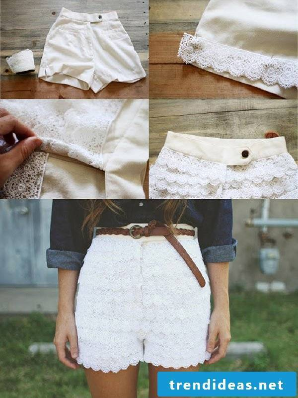 Beautify your short white pants with our instructions