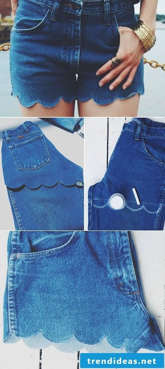 Short cut the old ladies summer pants