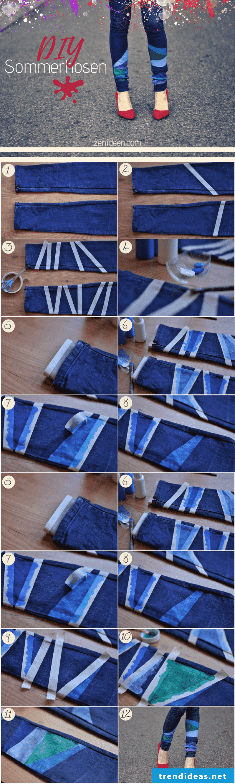 Take a look at the other instructions and take the opportunity to beautify your old summer pants!