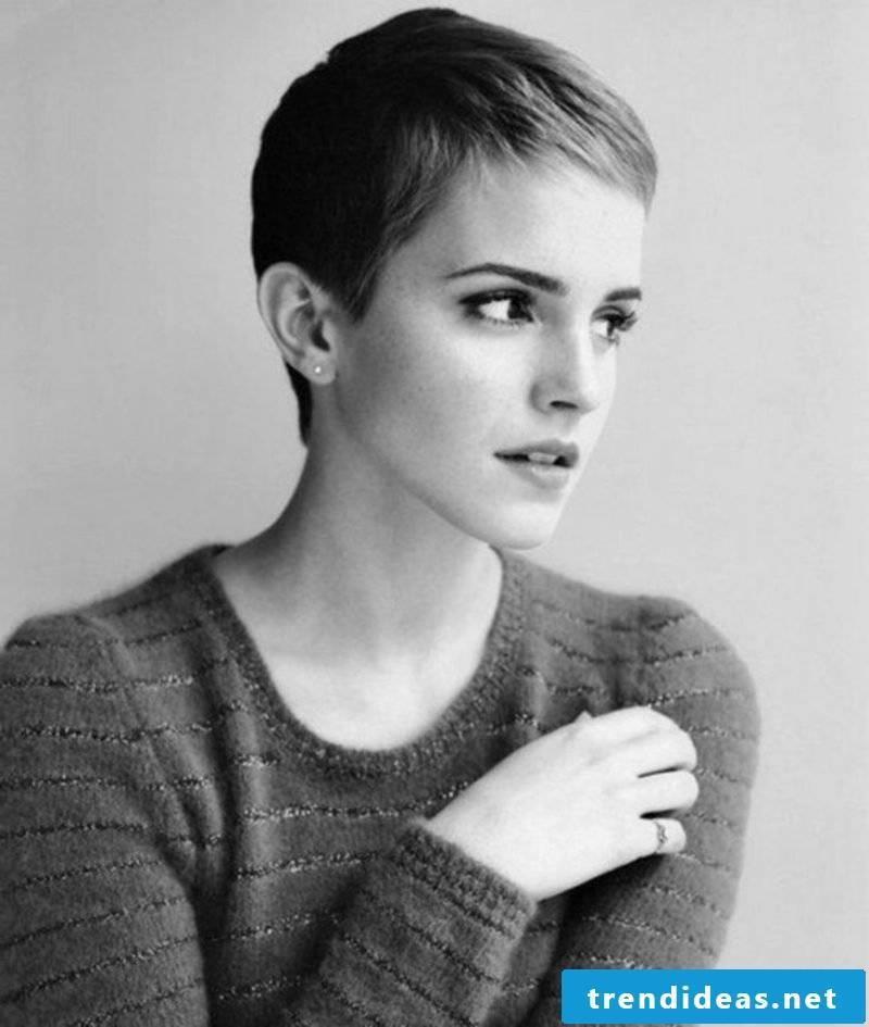 styling short hair Pixie Cut Emma Watson