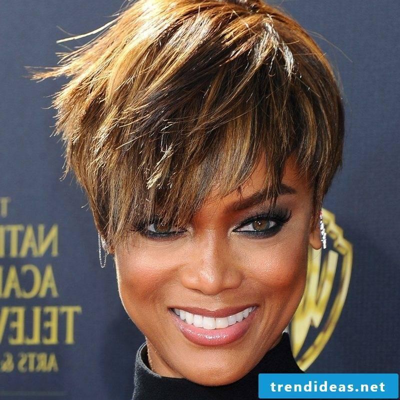 naughty short hairstyles Undercut Pixie Cut Tyra Banks