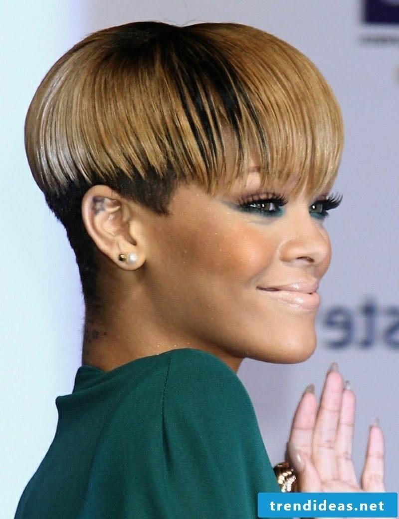 Short Hairstyles Undercut Rihanna