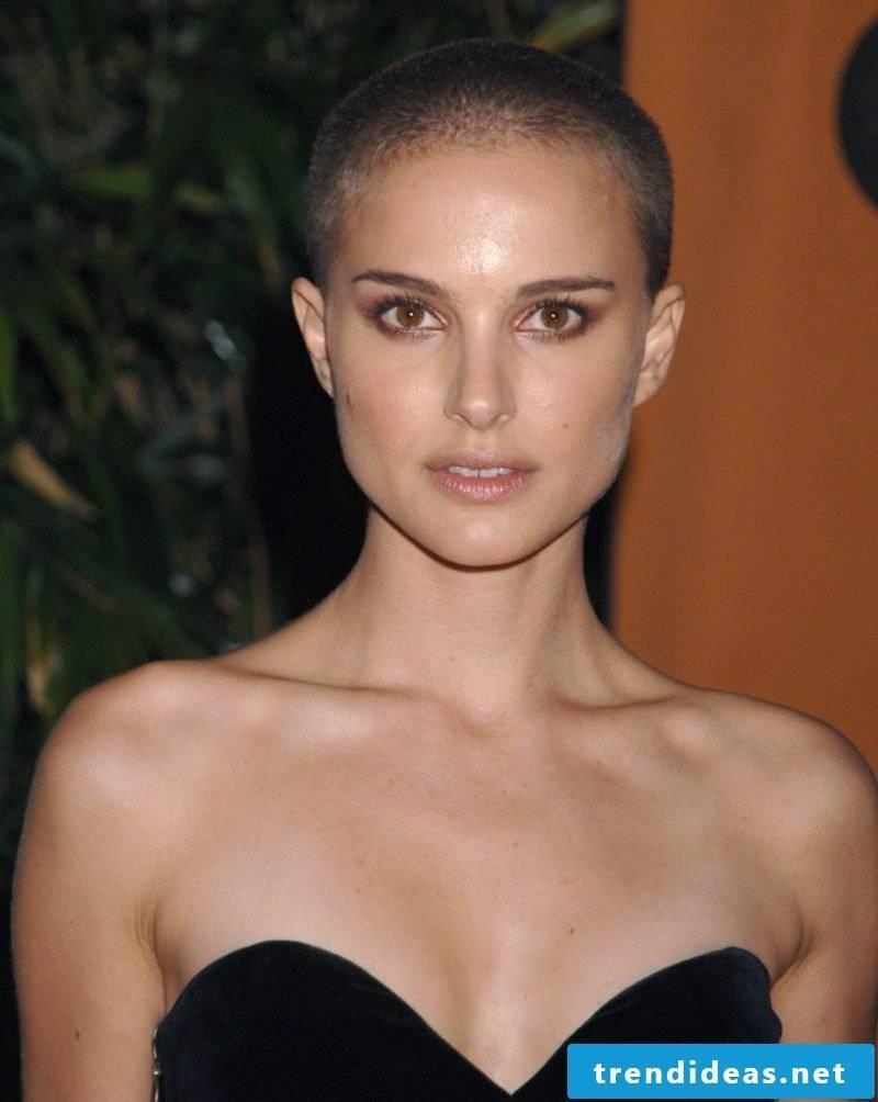 Short Hairstyles Ladies Buzz Cut Natalie Portman