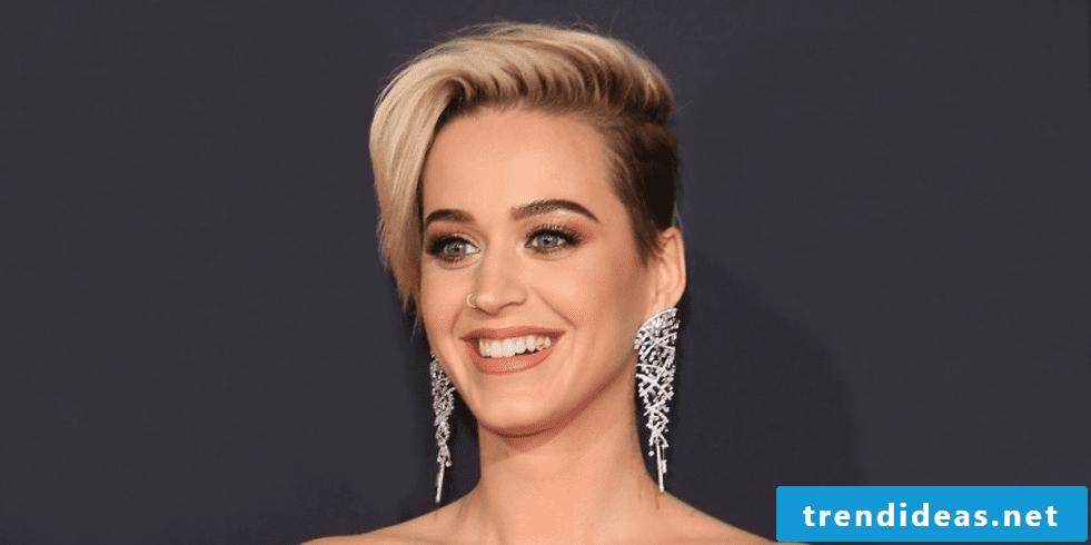 short hair style sidecut women Katy Perry