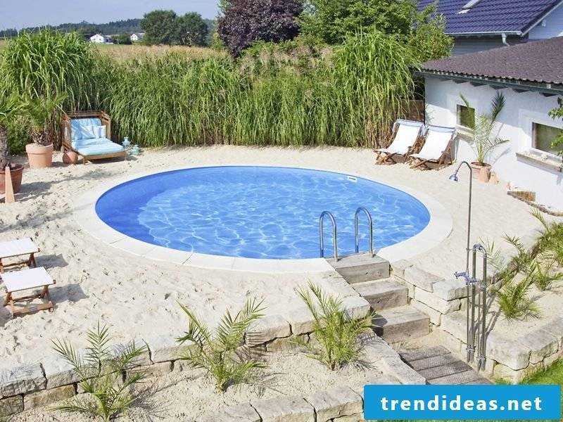 small round swimming pool