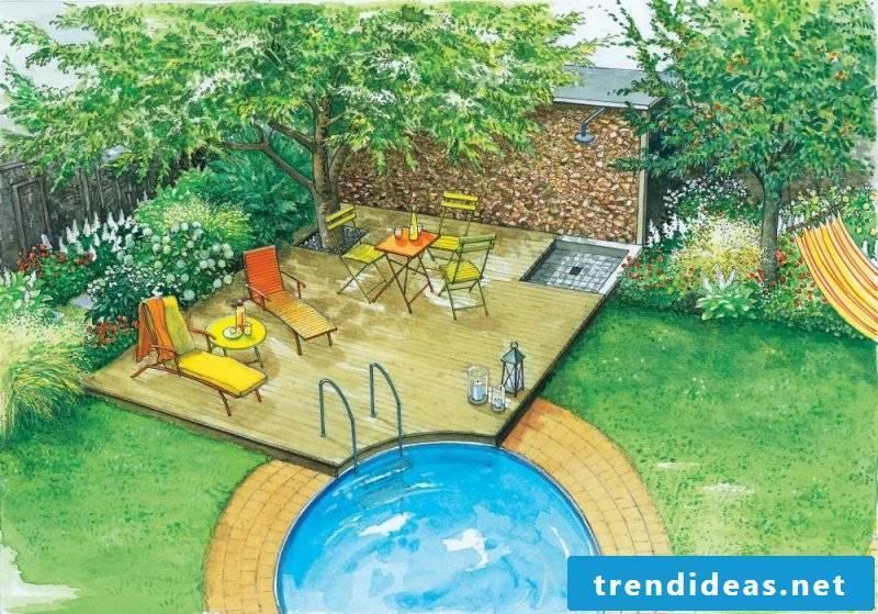 Swimming pool small oasis