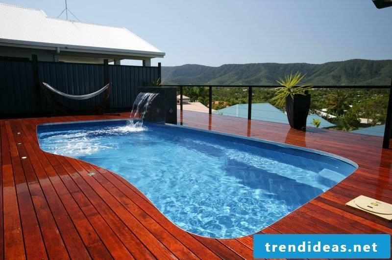 Swimming pool wood