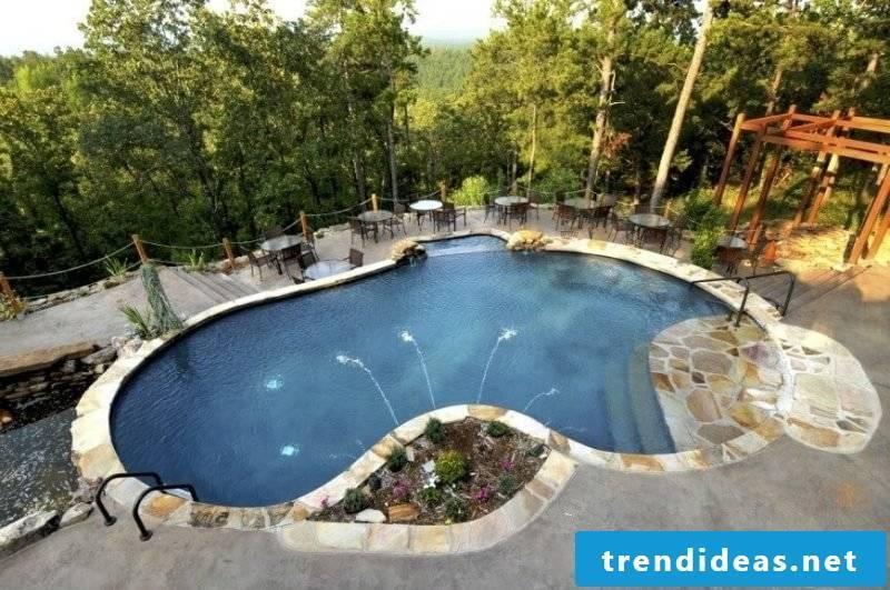 Swimming pool concrete