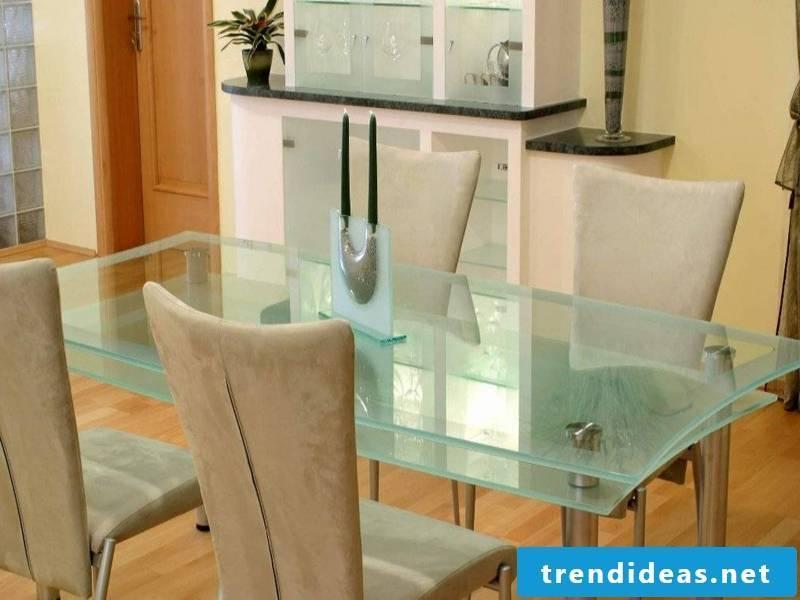 modern glass kitchen table