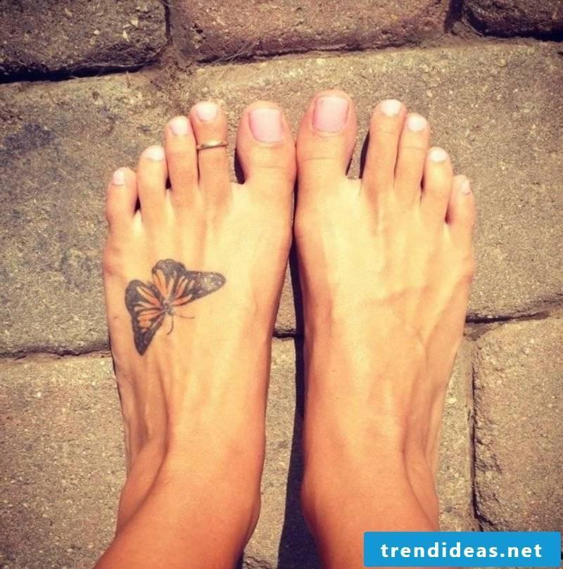 Tattoo butterfly foot top monarch butterfly