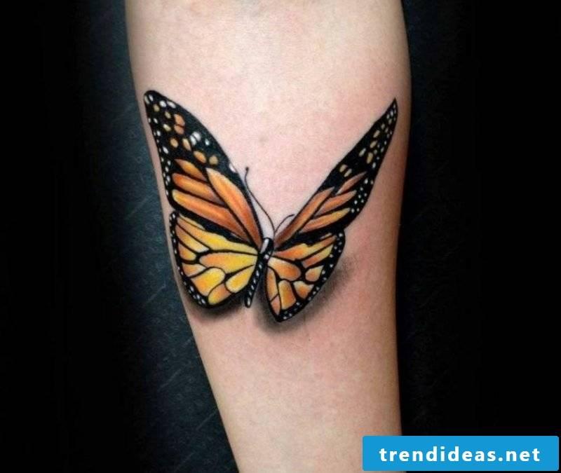 Tattoo butterfly monarch butterfly forearm