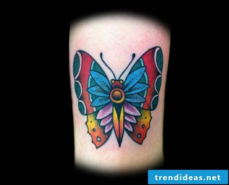 Tattoo butterfly colorful ethnic look