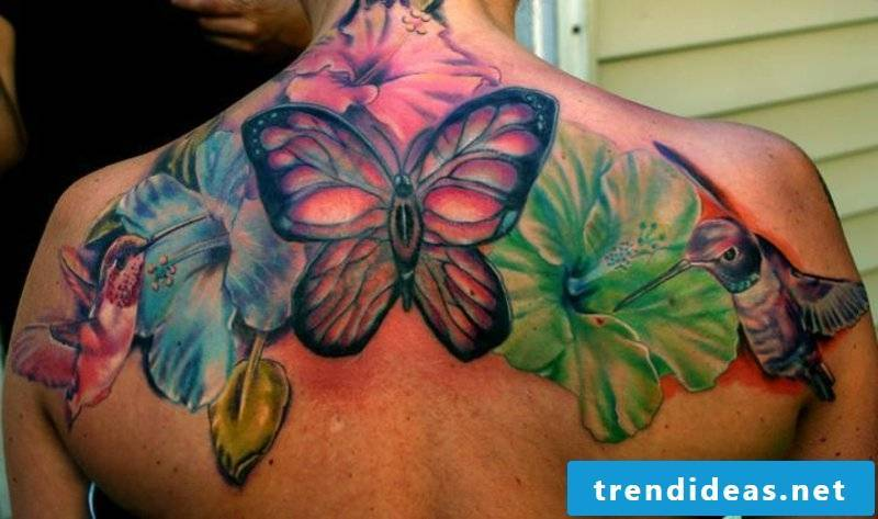 tattoo Hummingbird tatouage-Colibri hibiscus-43