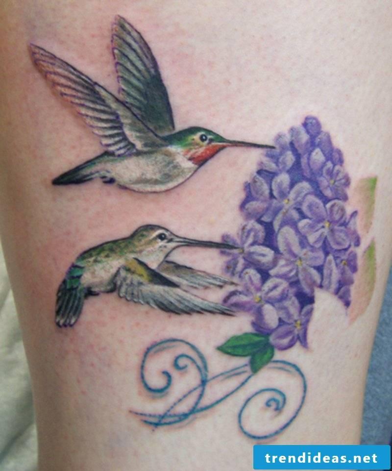 tattoo hummingbird-Female-hummingbird-tree-frog-tattoo-man