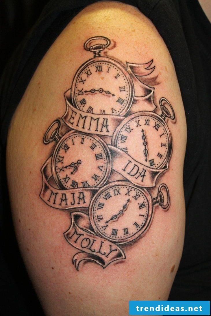 creative tattoo with name