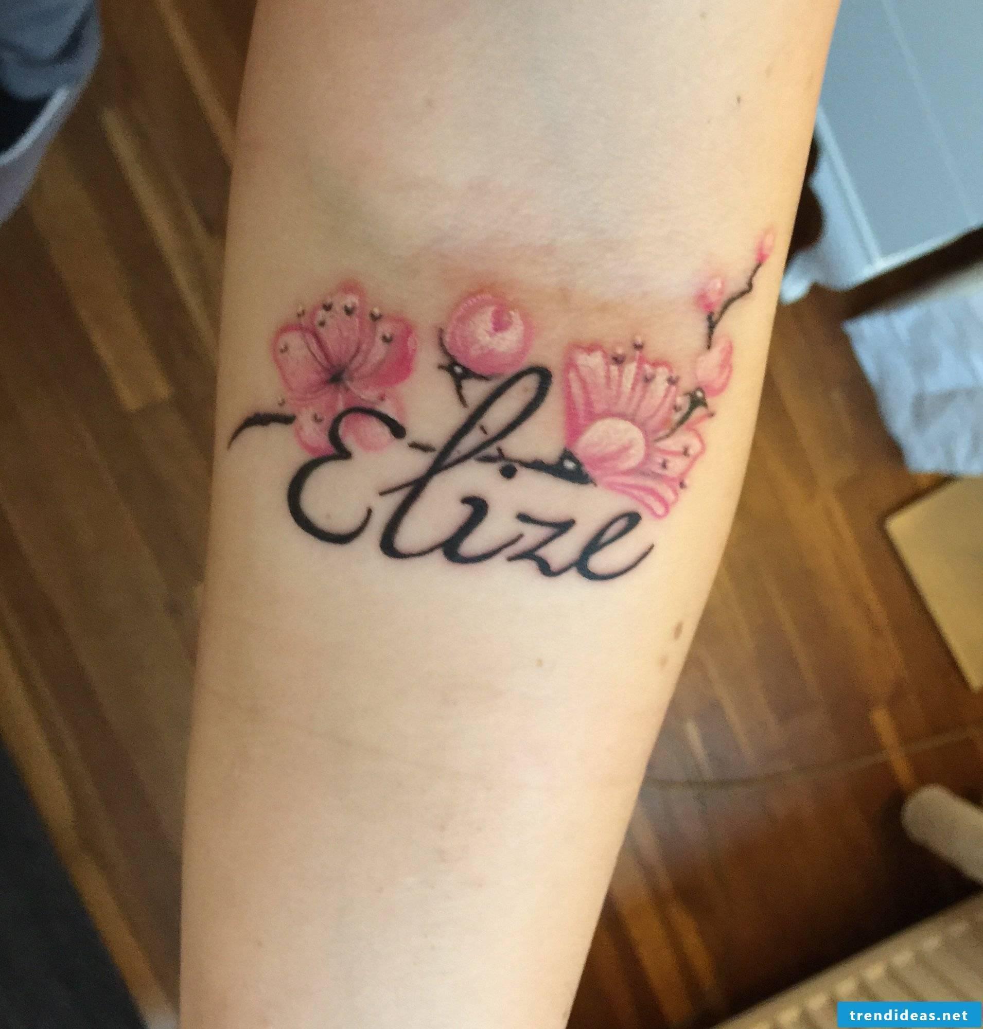 nice name tattoo