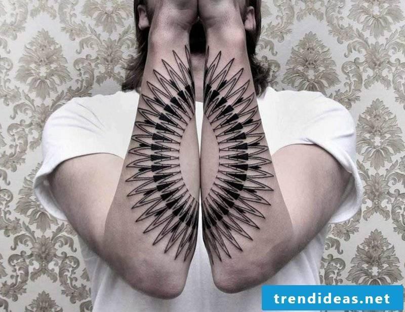 Tattoo on forearm original design pen man