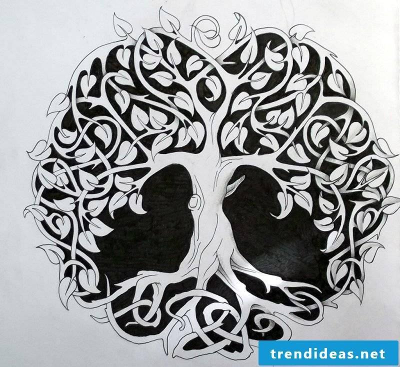 Tree of Life Tattoo Celtic template