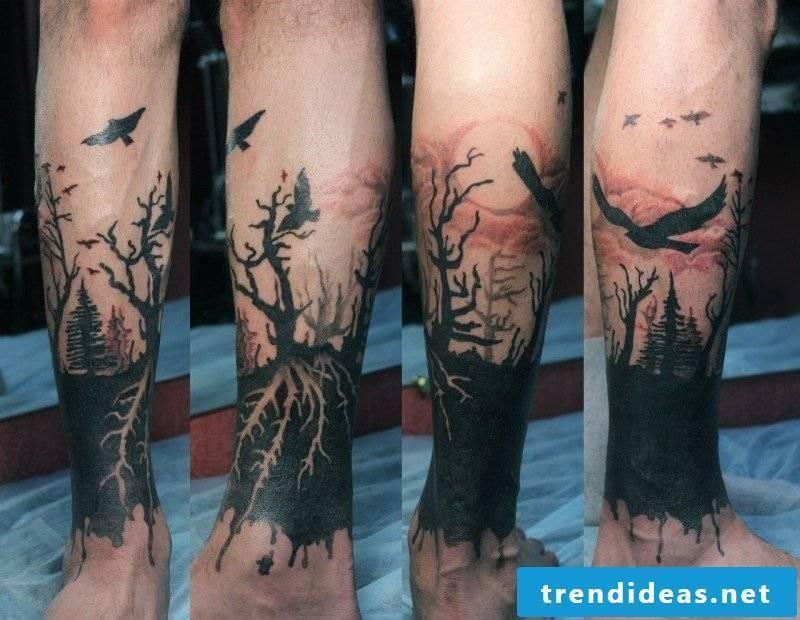 Tree of Life Tattoo Dark