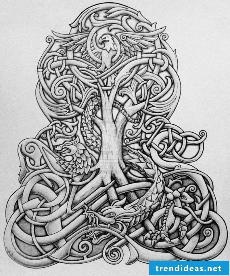 Tree of Life Tattoo Template