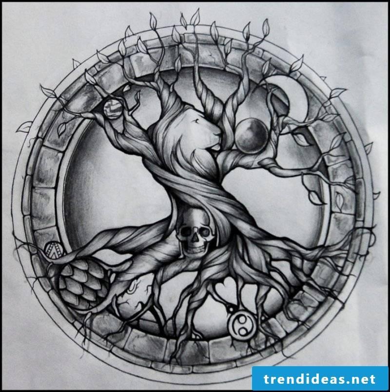 Tree of Life tattoo templates