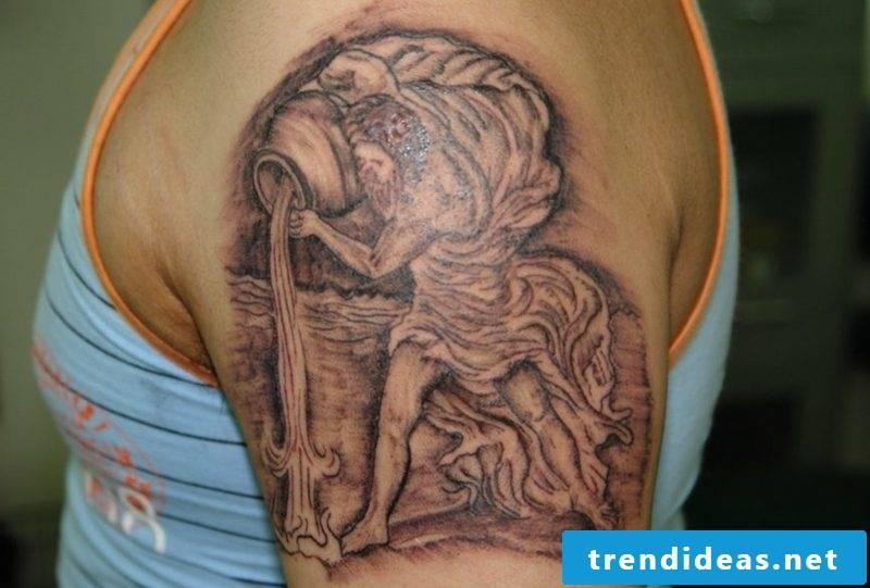 tattoo star sign aquarius