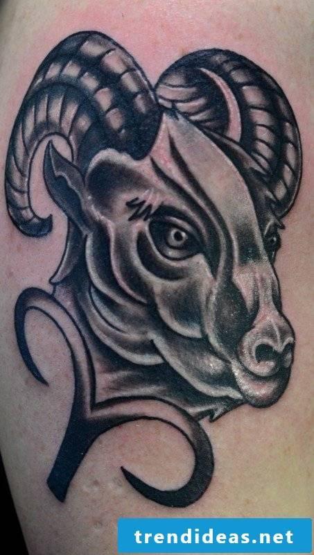 tattoo zodiac aries