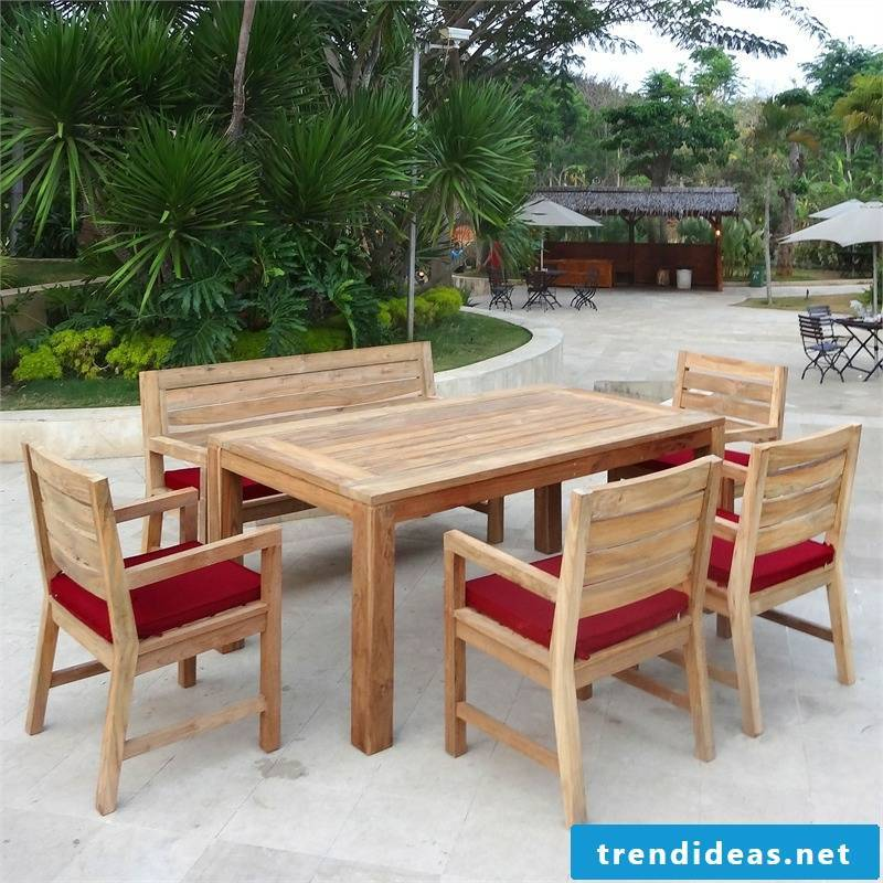teak furniture table and chairs