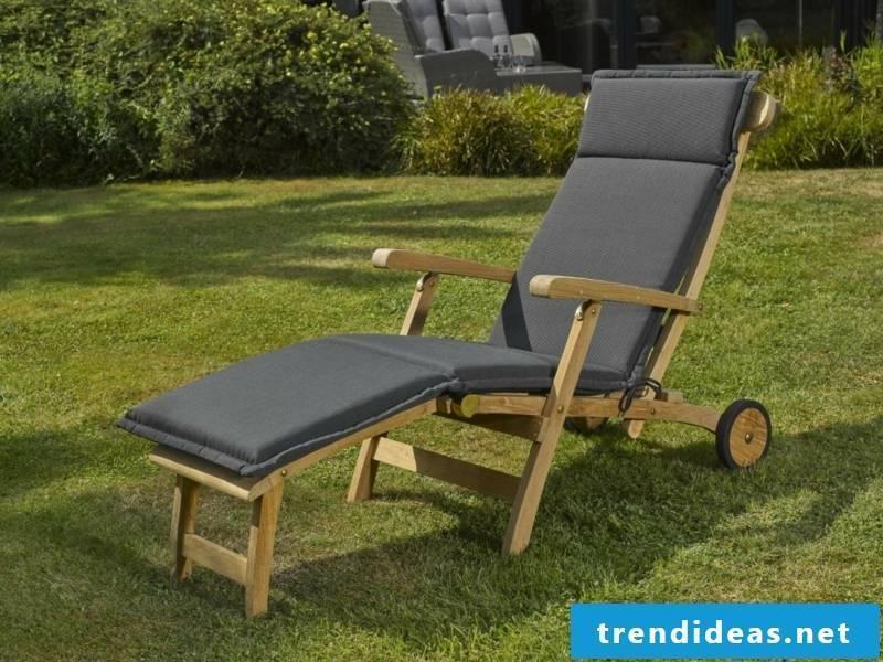 teak furniture lounger